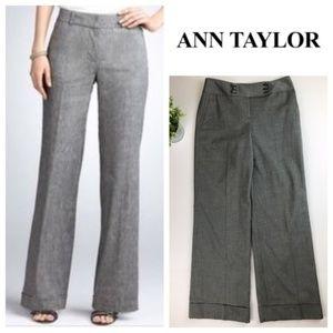 Ann Taylor Gray Signature Fit Trouser Pants